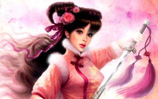 Девушка с холодным оружием фэнтези
