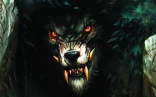Свирепый волк оборотень фэнтези