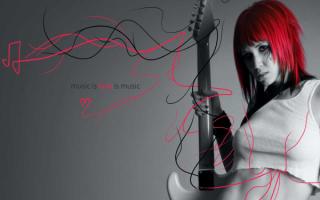 Эмо гитаристка