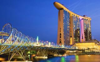 Пешеходный мост Хеликс в Сингапуре