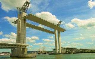 Разводной мост в Нидерландах