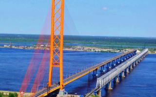 Сургутские мосты через реку Обь