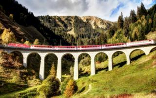 Железнодорожный мост в Альпах