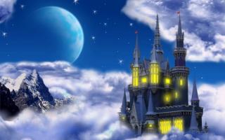 Сказочный замок в облаках