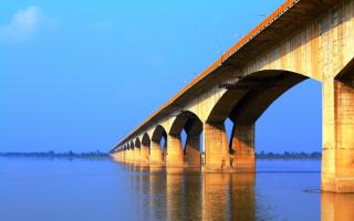 Мост Ганди Сету в Патне, Индия