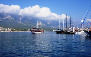 Порт города Кемера. Турция