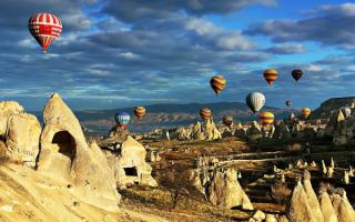 Турция. Воздушные шары над Каппадокией