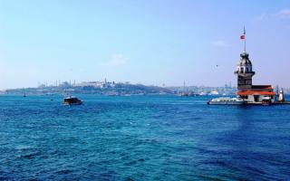 Турция. Пролив Босфор в Стамбуле