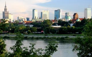 Река Висла в Варшаве