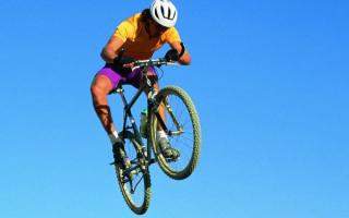 Полет велосипедиста