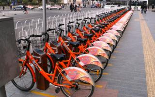 Прокат велосипедов в Шанхае