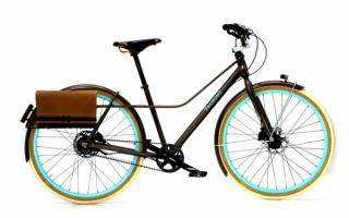 Велосипед с багажной сумкой
