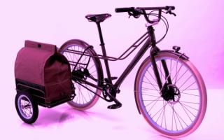 Велосипед с откидной багажной каляской