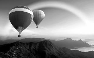 Воздушные шары в полете