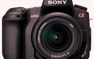 Фотоаппарат Sony α300