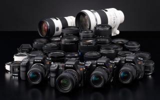 Фотоаппараты Sony Alpha
