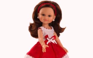 Кукла в платье с бантиком