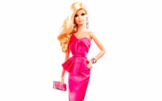 Барби в вечернем платье