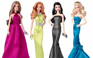 Барби в вечерних платьях