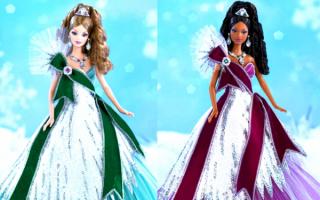 Барби в праздничных платьях