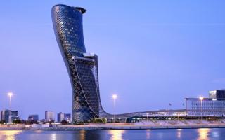 Небоскреб Кэпитал Гейт в Абу Даби