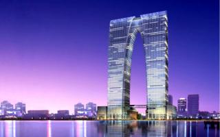 Gate to the East - Небоскрёб высотой 301,8 метра в городе Сучжоу, Китай