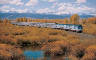 Двухэтажный поезд в Калифорнии