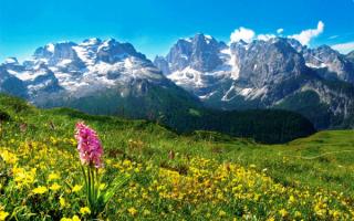 Итальянские Альпы в регионе Трентино