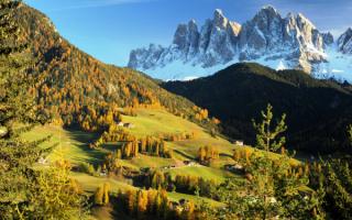 Осень в Доломитовых Альпах