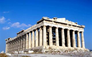 Древнегреческий храм Парфенон