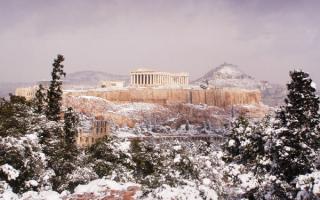 Зима в Греции