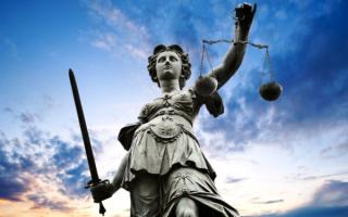 Статуя римской богини правосудия