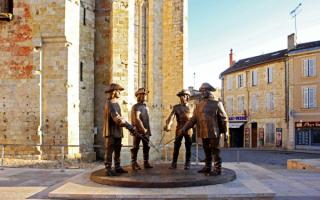 Памятник мушкетерам, Гасконь, Франция