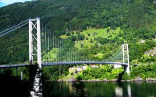 Мост через фьорд в Норвегии