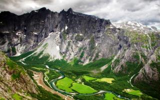 Речной каньон в Норвегии