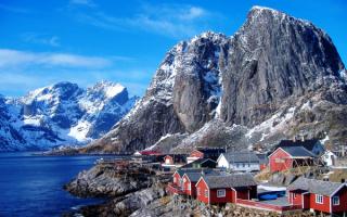 Рыбацкая деревня в Норвегии