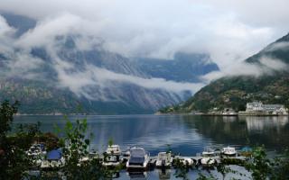 Туман над фьордом