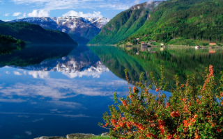 Фьорд Хардангер в Норвегии