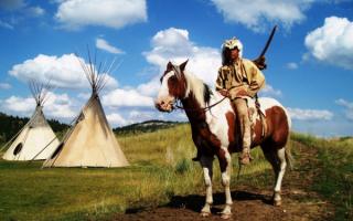 Индеец на лошади