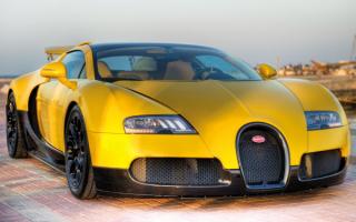 Bugatti Veyron yellow / Бугатти Вейрон желтый